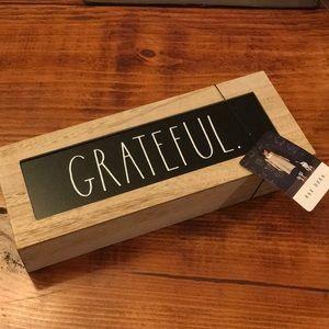 Rae Dunn grateful wood sign